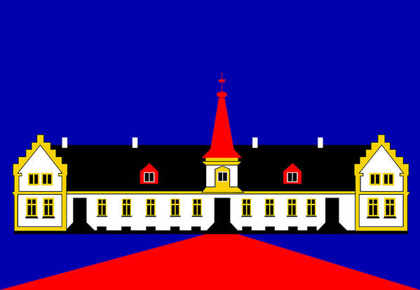 Manor House Art Print featuring the digital art Agersboel Manor House by Asbjorn Lonvig