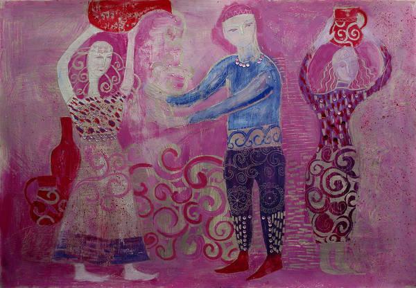 Figurative Art Print featuring the painting Aquarius by Aliza Souleyeva-Alexander
