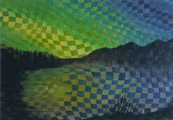 Landscape Art Print featuring the painting Aurora by Linda L Doucette