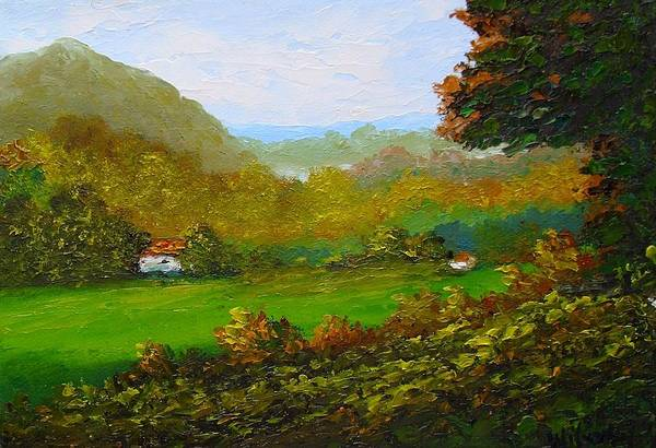 Landscape Art Print featuring the painting Autumn by Fred Wilson