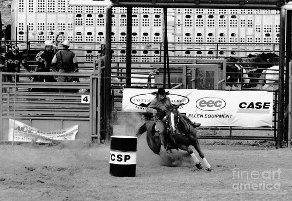 Rodeo Art Print featuring the photograph Barrel Racer by Susan Chandler
