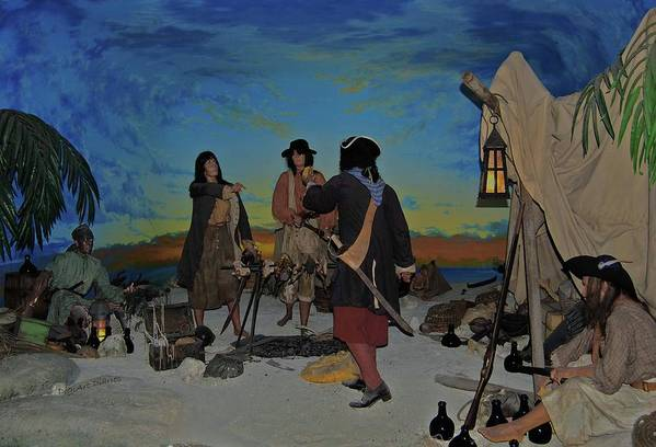 Pirates Art Print featuring the photograph Barring Buccaneers by DigiArt Diaries by Vicky B Fuller