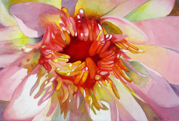 Flowers Art Print featuring the painting Bloom by Glenford John