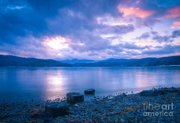 Cda Art Print featuring the photograph Blue Evening by Idaho Scenic Images Linda Lantzy