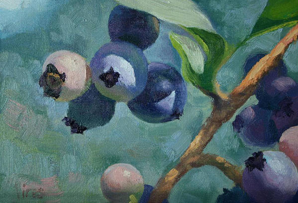 Landscape Art Print featuring the painting Blues by Michael Vires