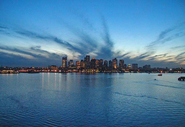 Landscape Art Print featuring the photograph Boston Skyline by Tito Santiago