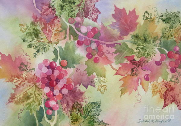 Grapes Art Print featuring the painting Cabernet by Deborah Ronglien
