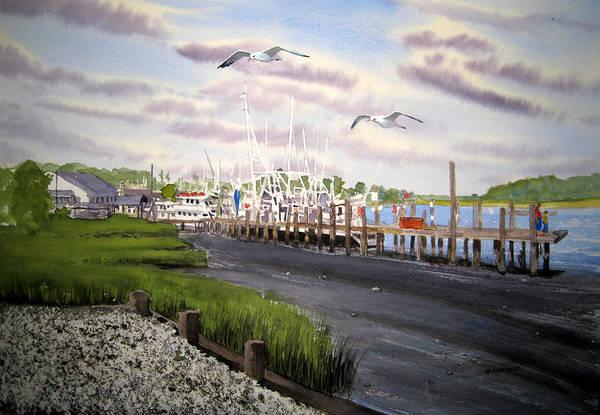 Landscape Art Print featuring the painting Calabash Shrimp by Shirley Braithwaite Hunt