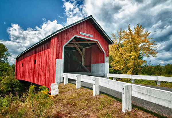 Covered Bridge Art Print featuring the photograph Carlton Bridge by Fred LeBlanc