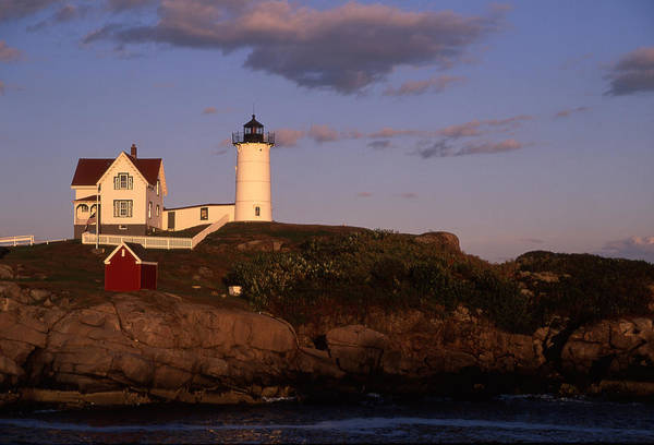 Landscape New England Lighthouse Nautical Coast Art Print featuring the photograph Cnrf0908 by Henry Butz