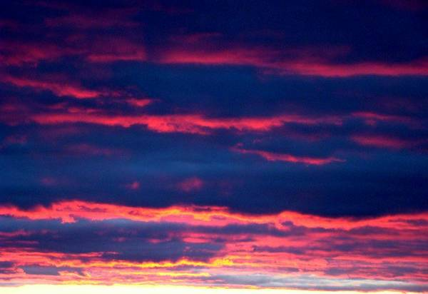 Sky Art Print featuring the photograph Cold Front Sunset One by Ana Villaronga