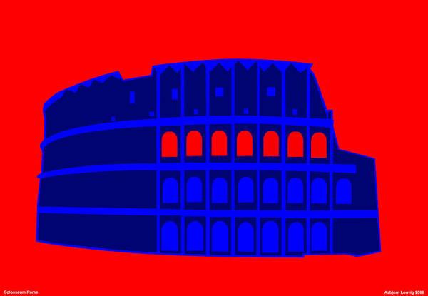 Colosseum Art Print featuring the digital art Colosseum by Asbjorn Lonvig
