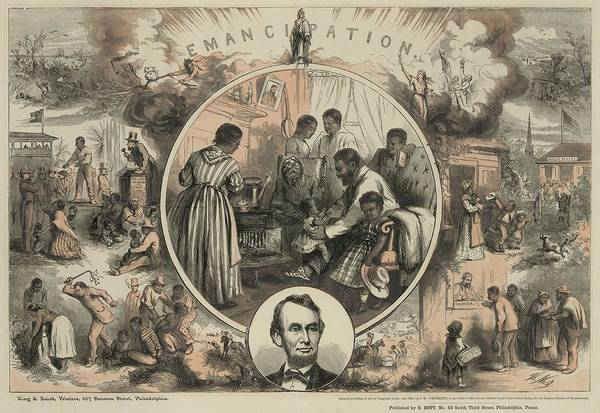 History Art Print featuring the photograph Commemoration Of The Emancipation by Everett