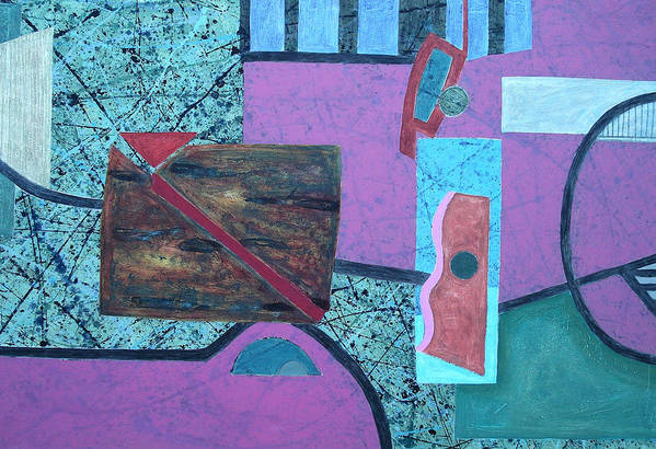 Art Print featuring the painting Composition I 05 -2- by Maria Parmo