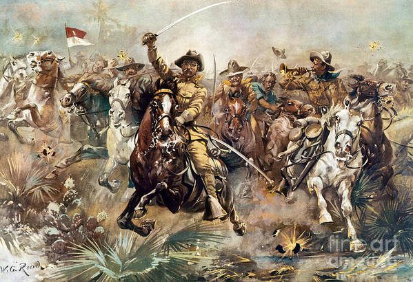 1898 Art Print featuring the photograph Cuba: Rough Riders, 1898 by Granger