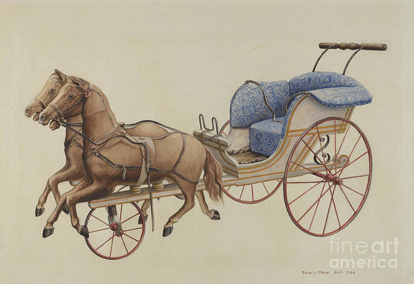 Art Print featuring the drawing Doll Carriage by Samuel W. Ford