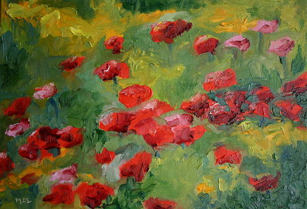 Landscape Art Print featuring the painting Door County Poppies by Martha Layton Smith