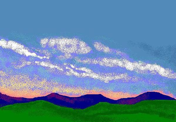Landscape Art Print featuring the digital art Dusk by Carole Boyd