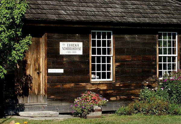 Photograph Art Print featuring the photograph Eureka Schoolhouse by Lois Lepisto