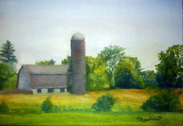 Farm Art Print featuring the painting Farm In The Pine Barrens by Sheila Mashaw