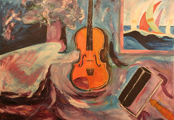 Art Print featuring the painting Fiddle by Biagio Civale