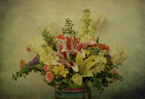 Flowers Print featuring the photograph Flowers by Sandy Keeton