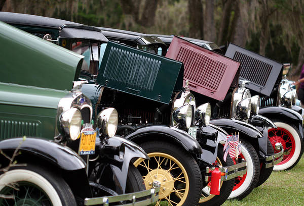 Car Art Print featuring the photograph Ford Model A Line Up by April Wietrecki Green