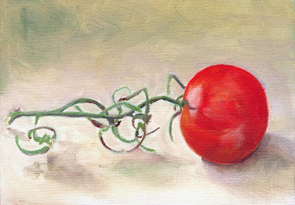 Food Art Print featuring the painting Hot-house Tomato by Sarah Lynch