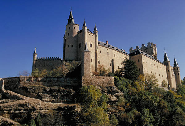 Royal Art Print featuring the photograph Isabella's Castle In Segovia by Carl Purcell