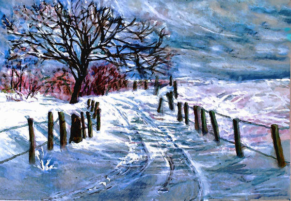 Winter Art Print featuring the painting January's Return by Mary Sonya Conti