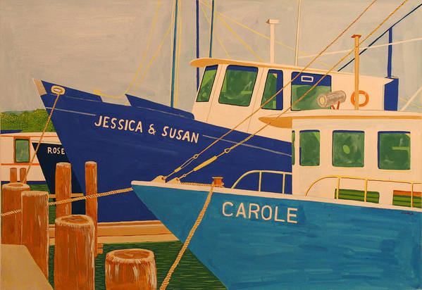 Marine Art Print featuring the painting Jessica And Susan by Biagio Civale