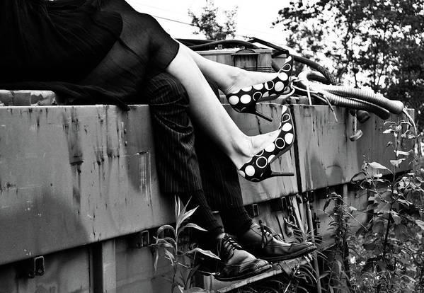 Feet Art Print featuring the photograph Junkyard Love by Ragina Kakos