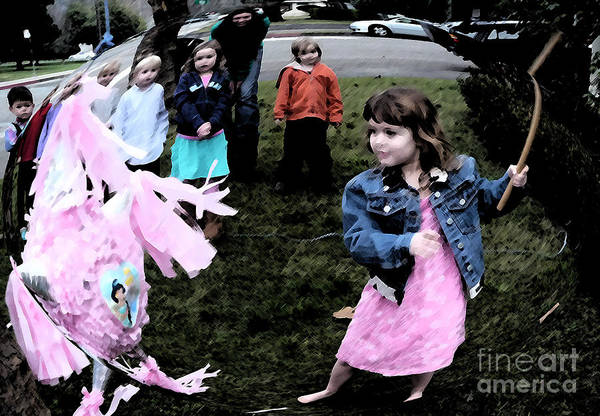 People Art Print featuring the photograph Killing The Pinata by JoAnn SkyWatcher