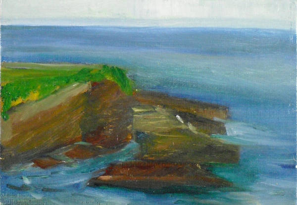 100 Paintings Art Print featuring the painting La Jolla Cove 016 by Jeremy McKay