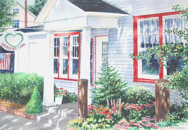 Landscape Art Print featuring the painting Lavender Lane Occoquan Virginia by Tom Harris