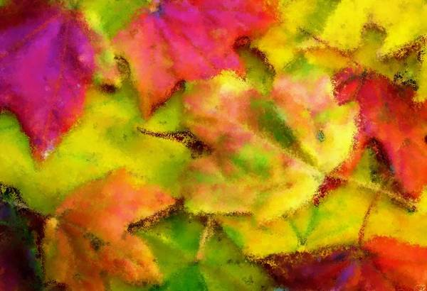 Fall Art Print featuring the painting Leaves Of Fall by Harry Dusenberg