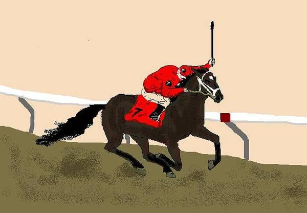 Horses Art Print featuring the digital art Lionheart by Carole Boyd