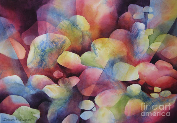 Abstract Art Print featuring the painting Luminosity by Deborah Ronglien