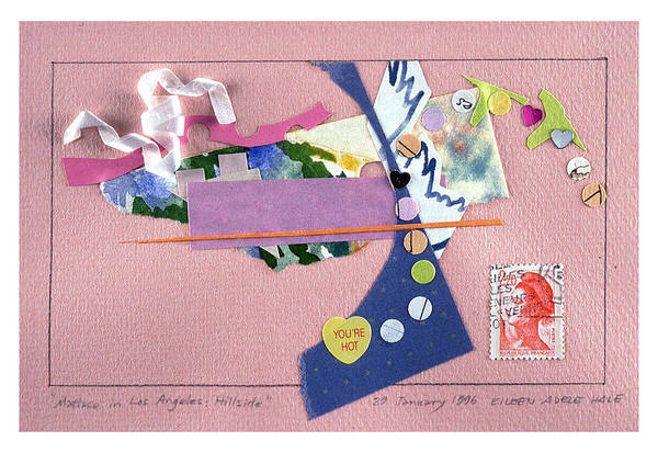 Collage Art Print featuring the mixed media Matisse In Los Angeles by Eileen Hale