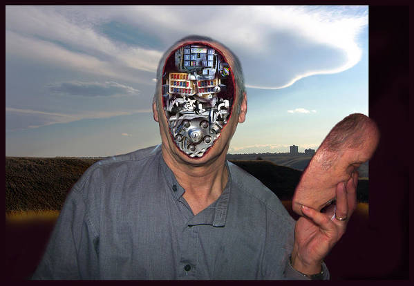 Surrealism Art Print featuring the digital art Mr. Robot-otto by Otto Rapp