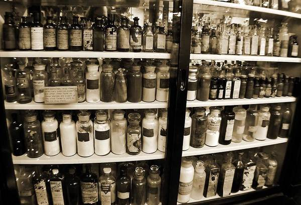 Drug Store Art Print featuring the photograph Old Drug Store Goods by DigiArt Diaries by Vicky B Fuller
