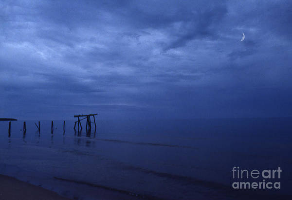 Pier Art Print featuring the photograph Old Fishing Pier by Timothy Johnson