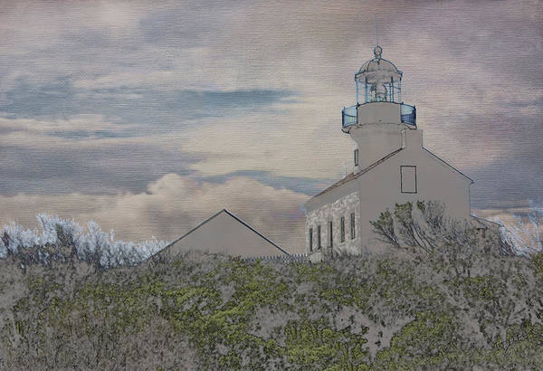 Europe Art Print featuring the photograph Old Point Loma Lighthouse by Linda Dunn