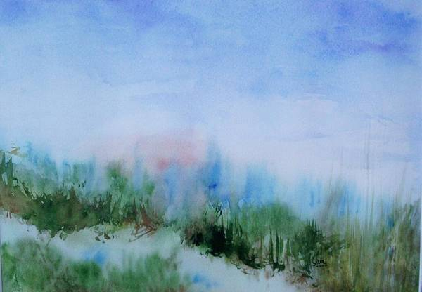 Landscape Art Print featuring the painting Overlook by Suzanne Udell Levinger