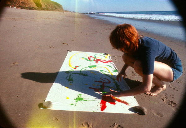 Sand Art Print featuring the photograph Painting In Sand by Pamela Maloney