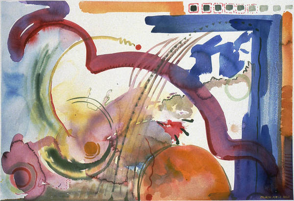 Abstract Art Print featuring the painting Paths And Places by Eileen Hale