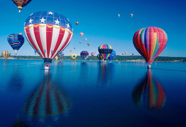 Hot Air Balloons Art Print featuring the photograph Patriotic Hot Air Balloon by Jerry McElroy
