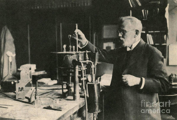 Science Art Print featuring the photograph Paul Ehrlich, German Immunologist by Photo Researchers
