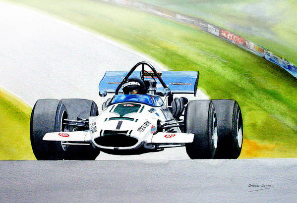 Motor Sport F5000 Peter Gethin Art Print featuring the painting Peter Gethin by Steve Jones