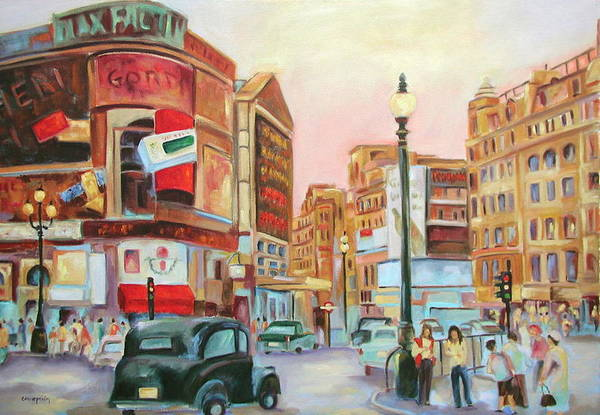 Cityscape Art Print featuring the painting Picadilly by Ginger Concepcion